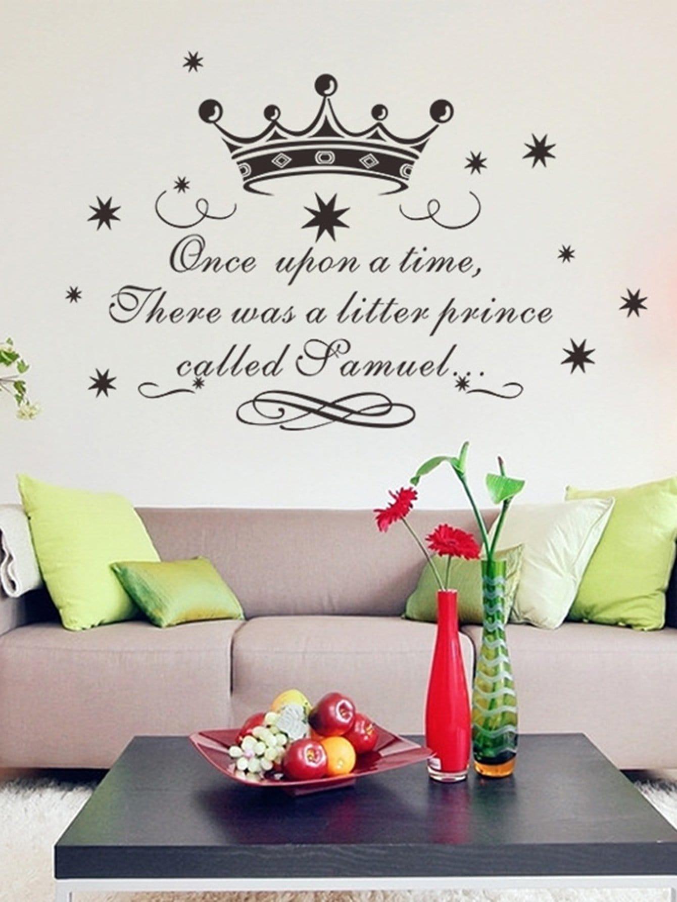 Crown & Fairy Tale Wall Decal a fairy tale