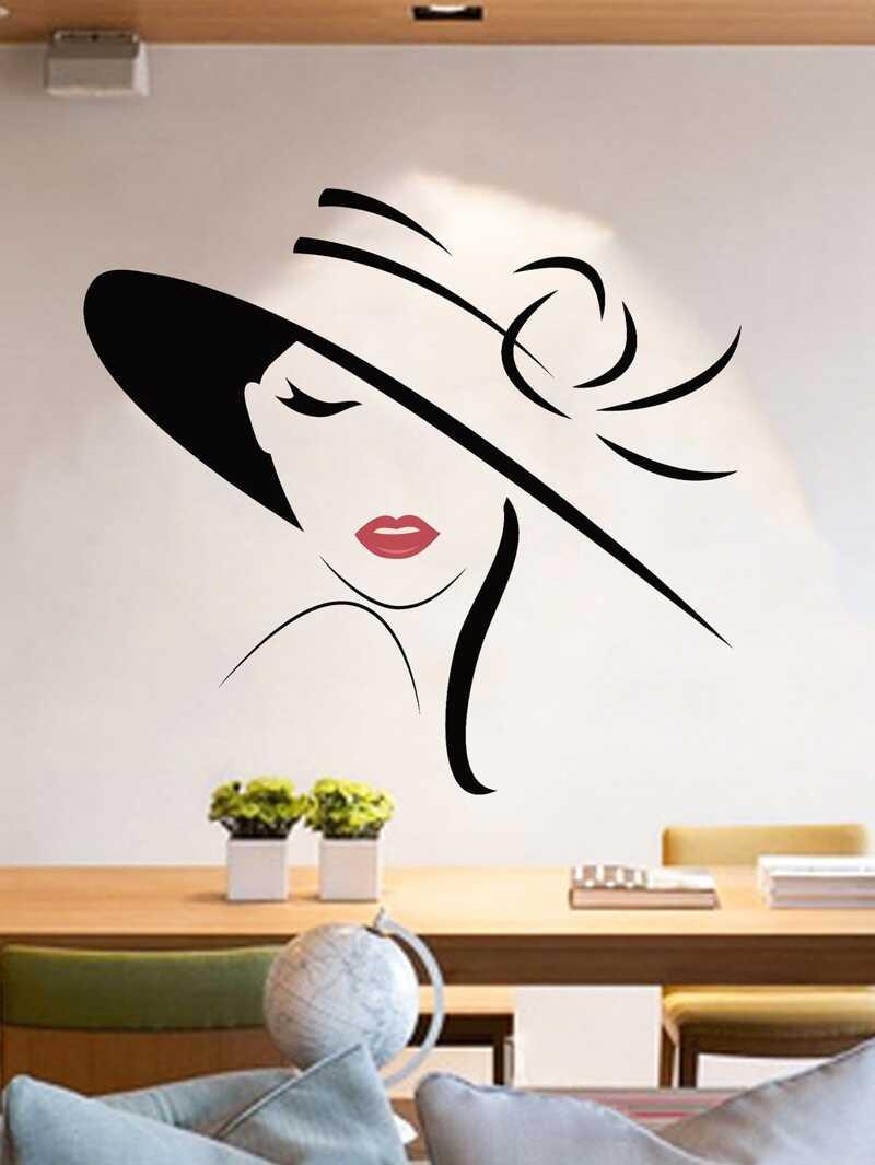 Elegant Lady Wall Decal