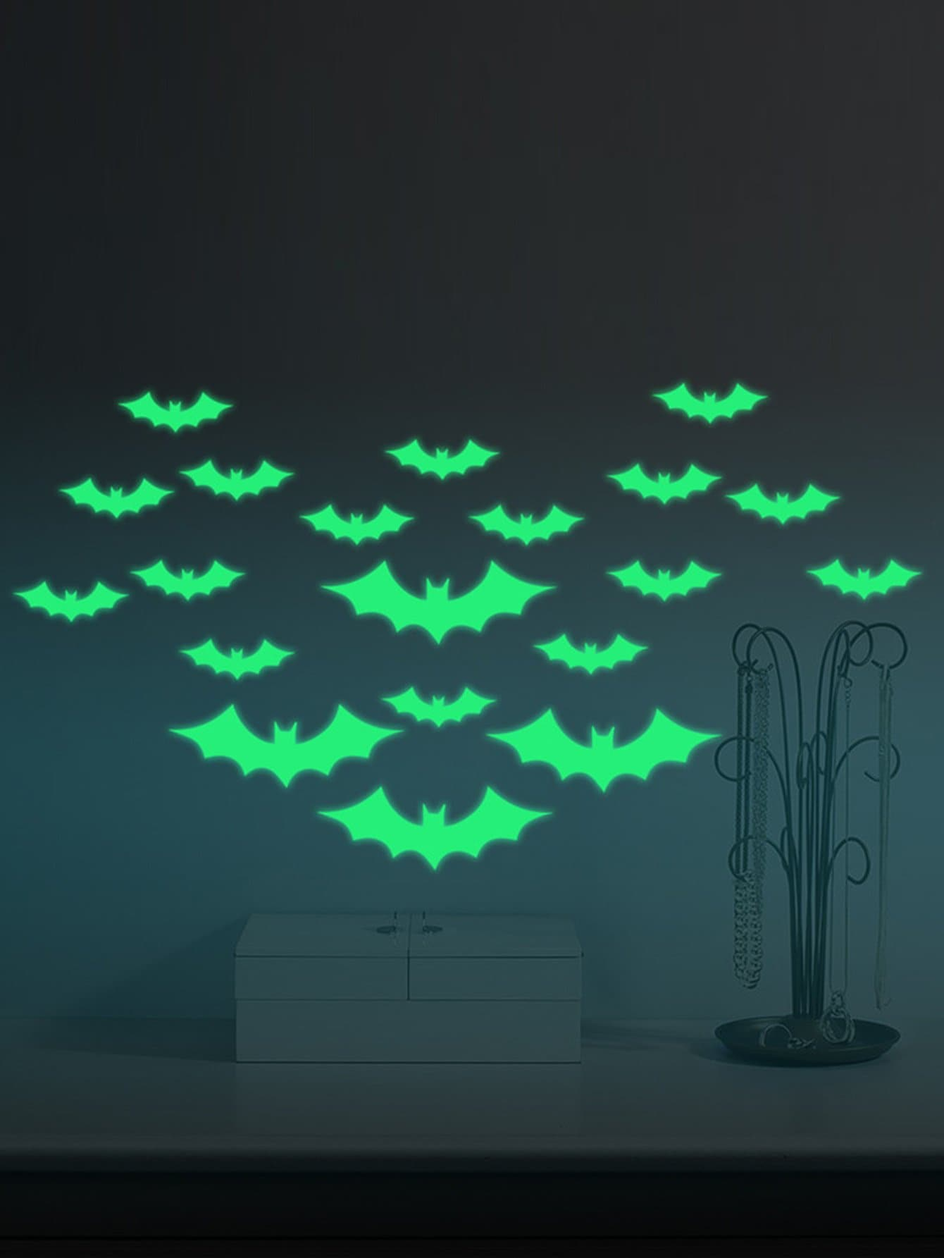 Фото Luminous Bat Wall Decal family wall quote removable wall stickers home decal art mural