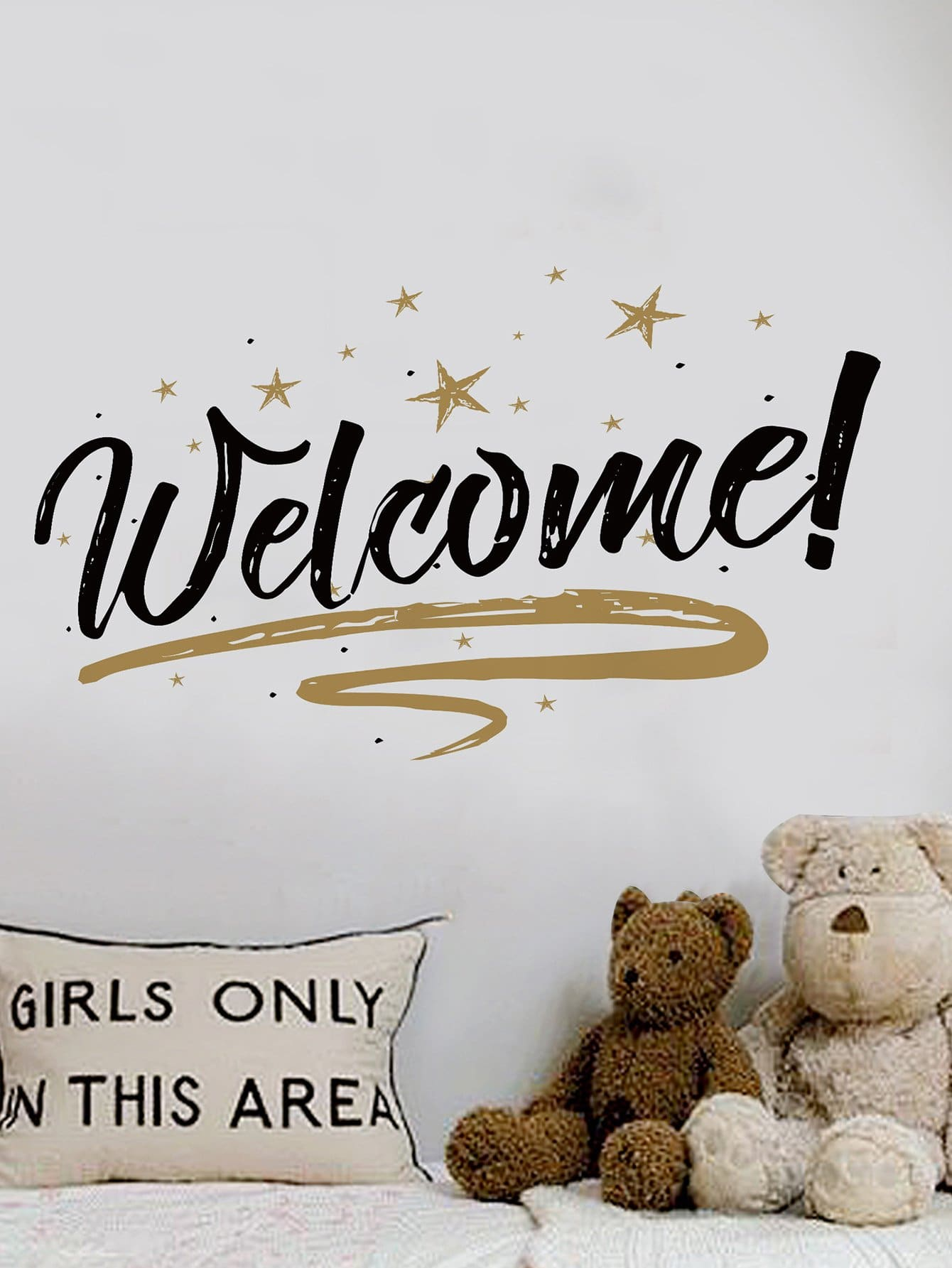 Welcome Wall Decal family wall quote removable wall stickers home decal art mural