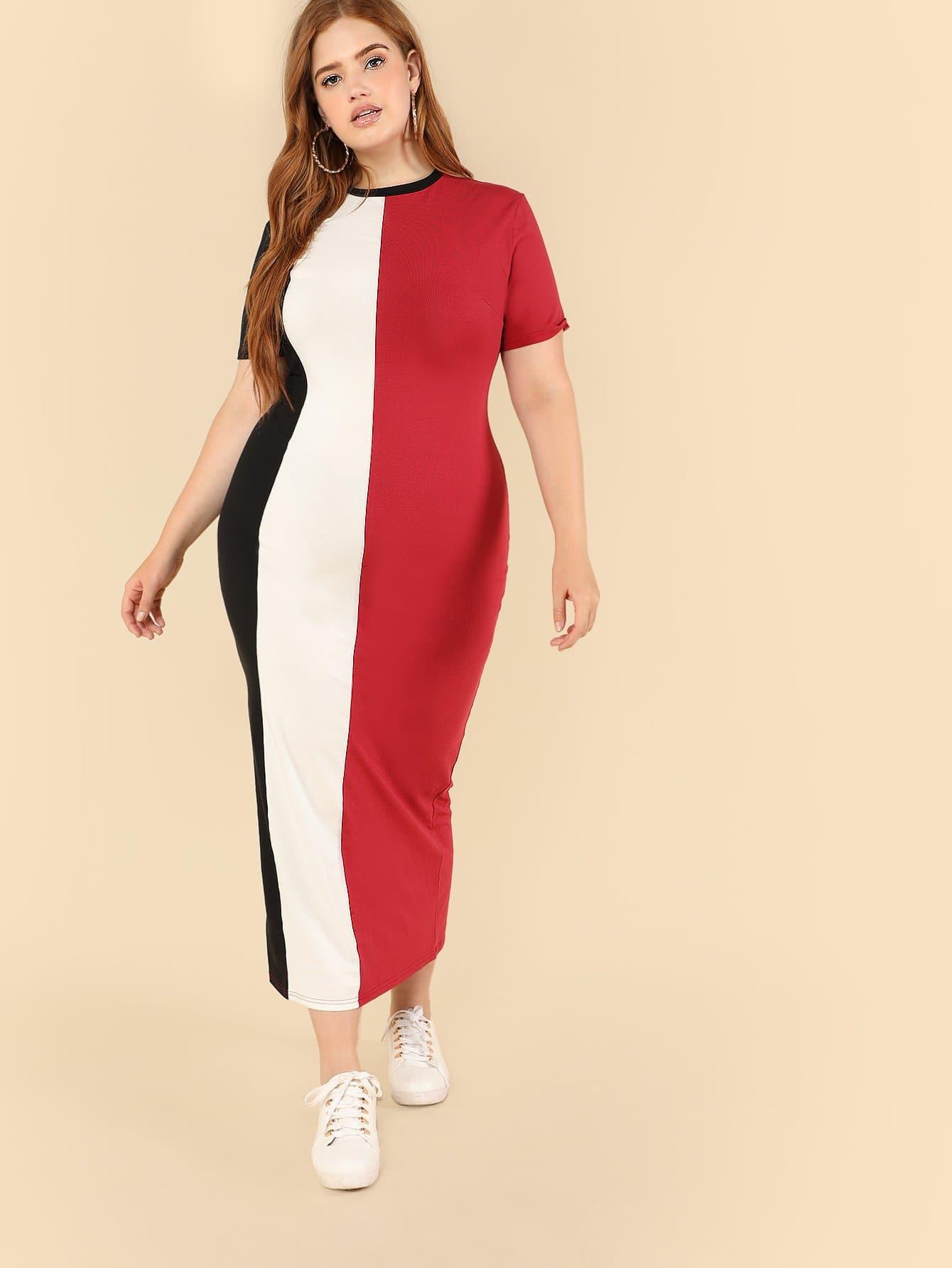 Купить Платье карандаш разные цвета, Bree Kish, SheIn