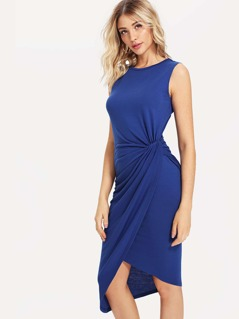 Draped Side Wrap Dress