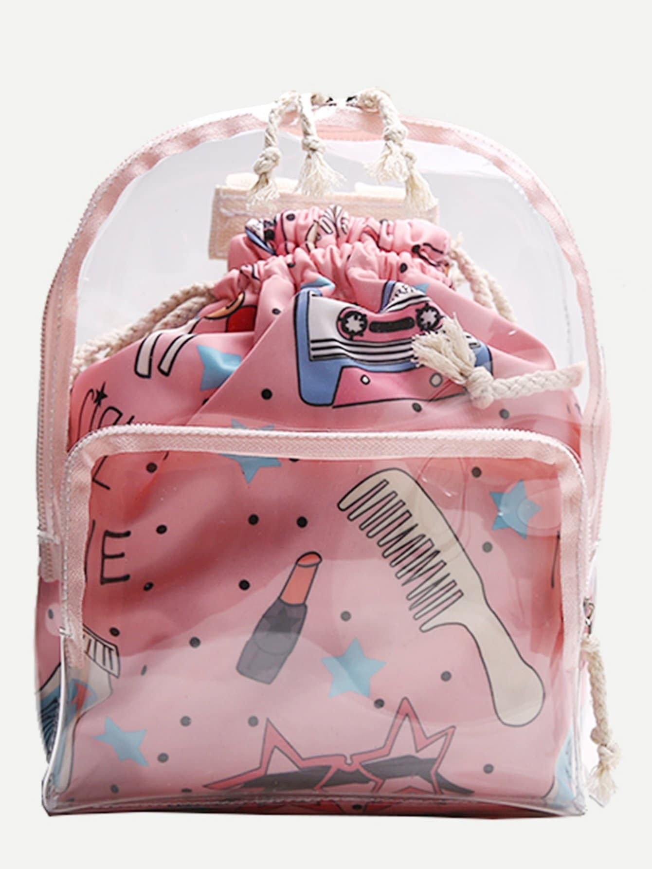 Clear Backpack With Inner Sack clear design backpack