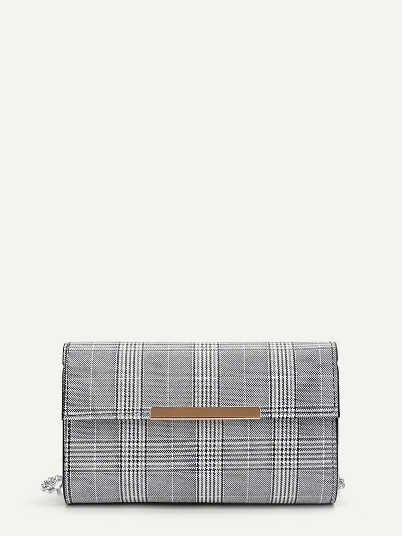Glen Plaid Shoulder Bag