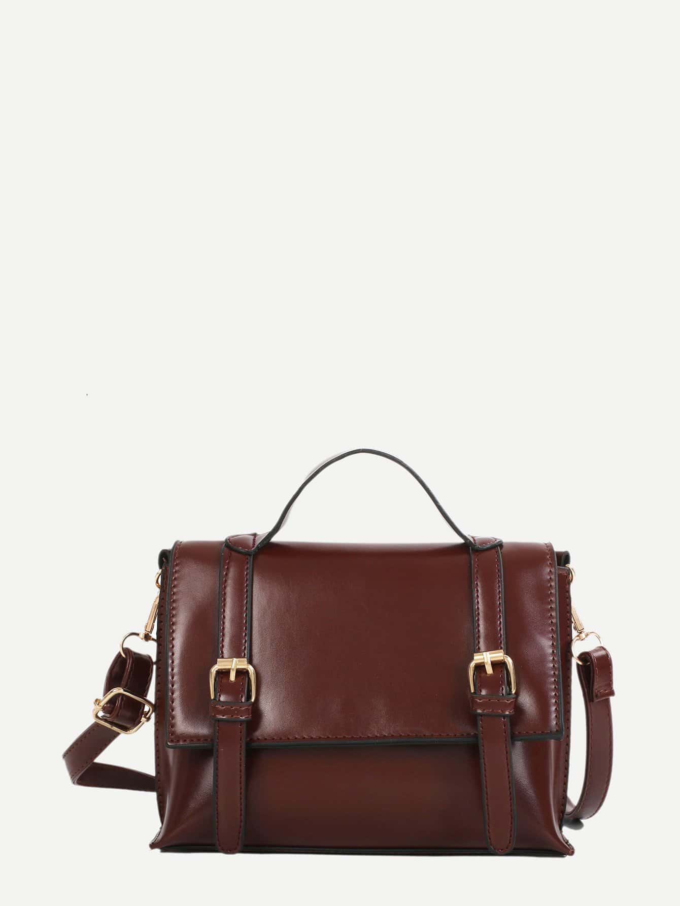 Front Buckle Satchel Bag buckle front clear chain bag