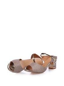 Peep Toe Metallic Heels