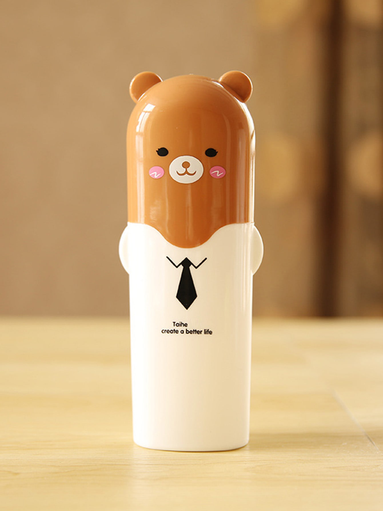 Bear Shaped Toothbrush Container bear shaped toothbrush container