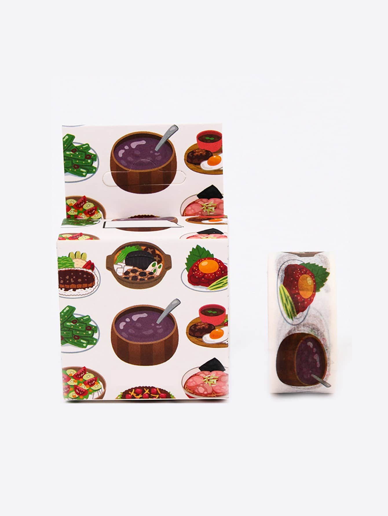 Cartoon Soup Adhesive Tape sunglasses pattern adhesive tape