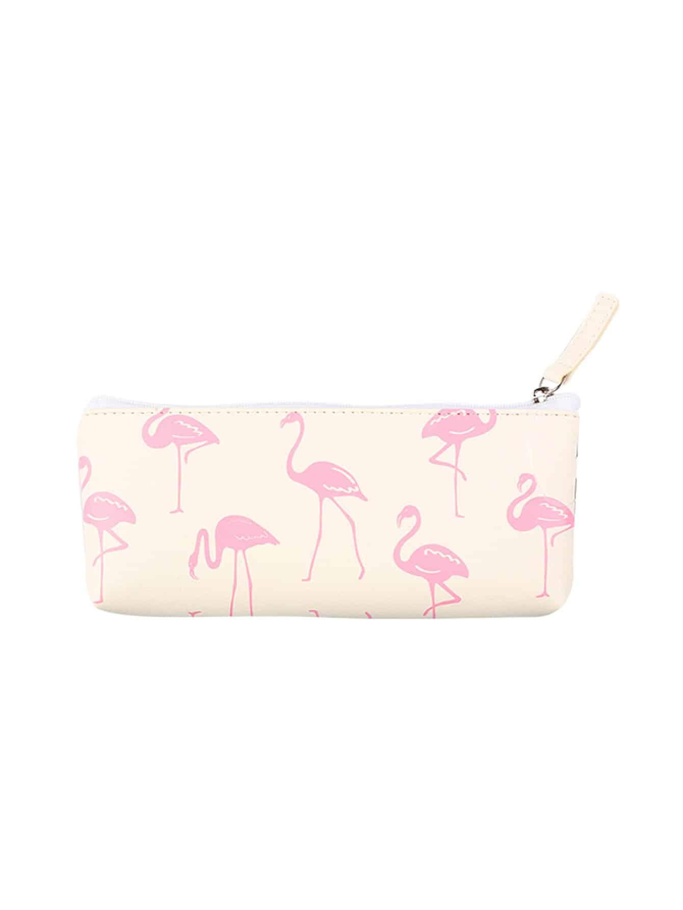 Flamingo Overlay Pencil Case strawberry overlay pencil case