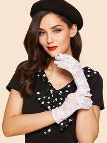 Floral Lace Gloves