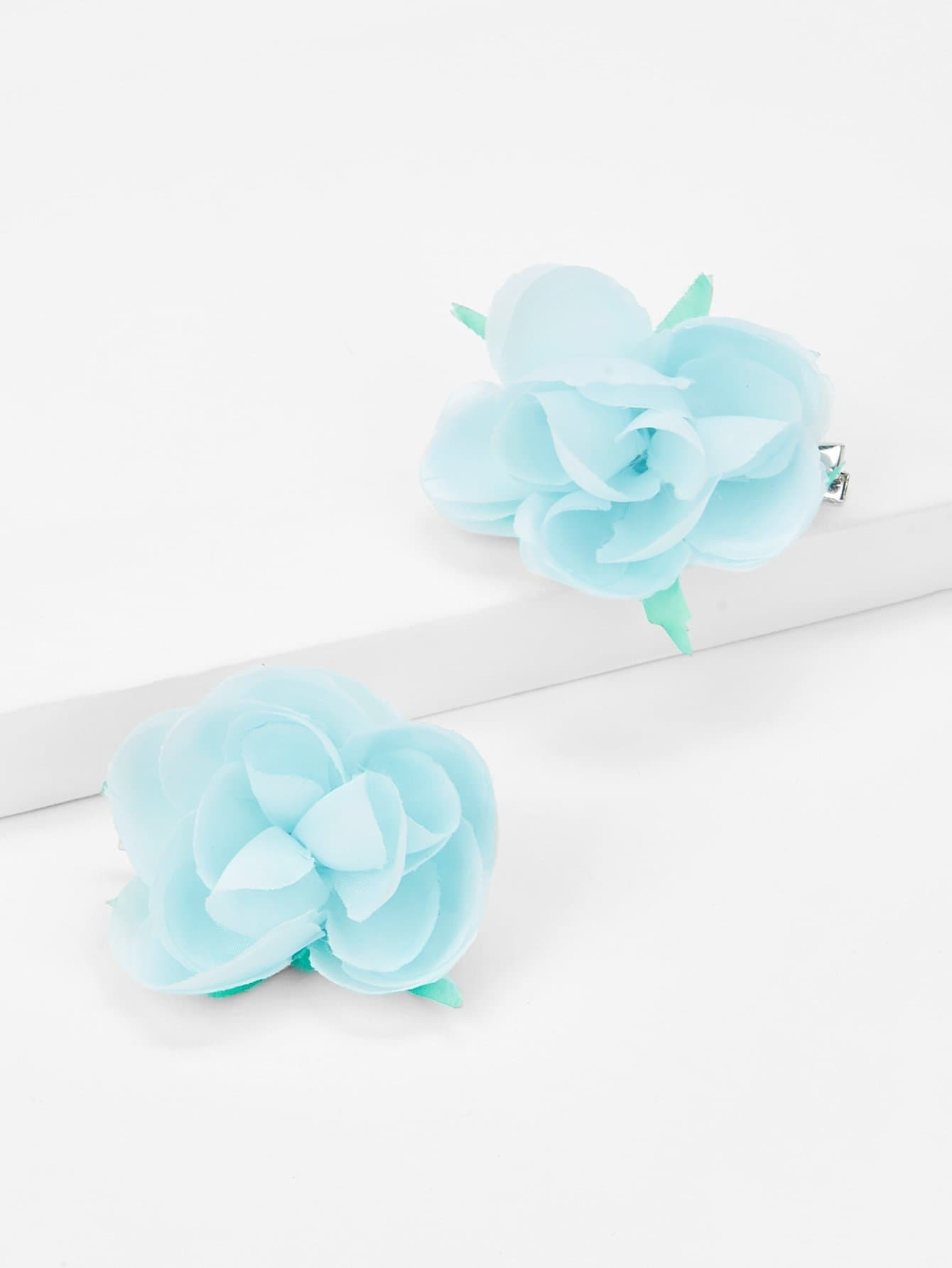 Flower Design Kids Hair Clip 1Pair