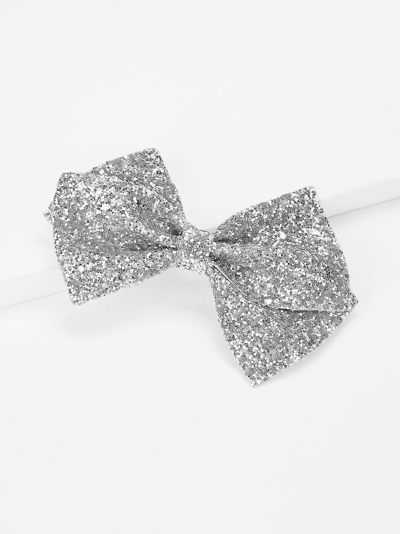 Sequin Bow Kids Hair Clip myamy 12pcs lot large 8 grosgrain ribbon boutique hair bows with alligator hair clips big bow girls hairbow for teens kids