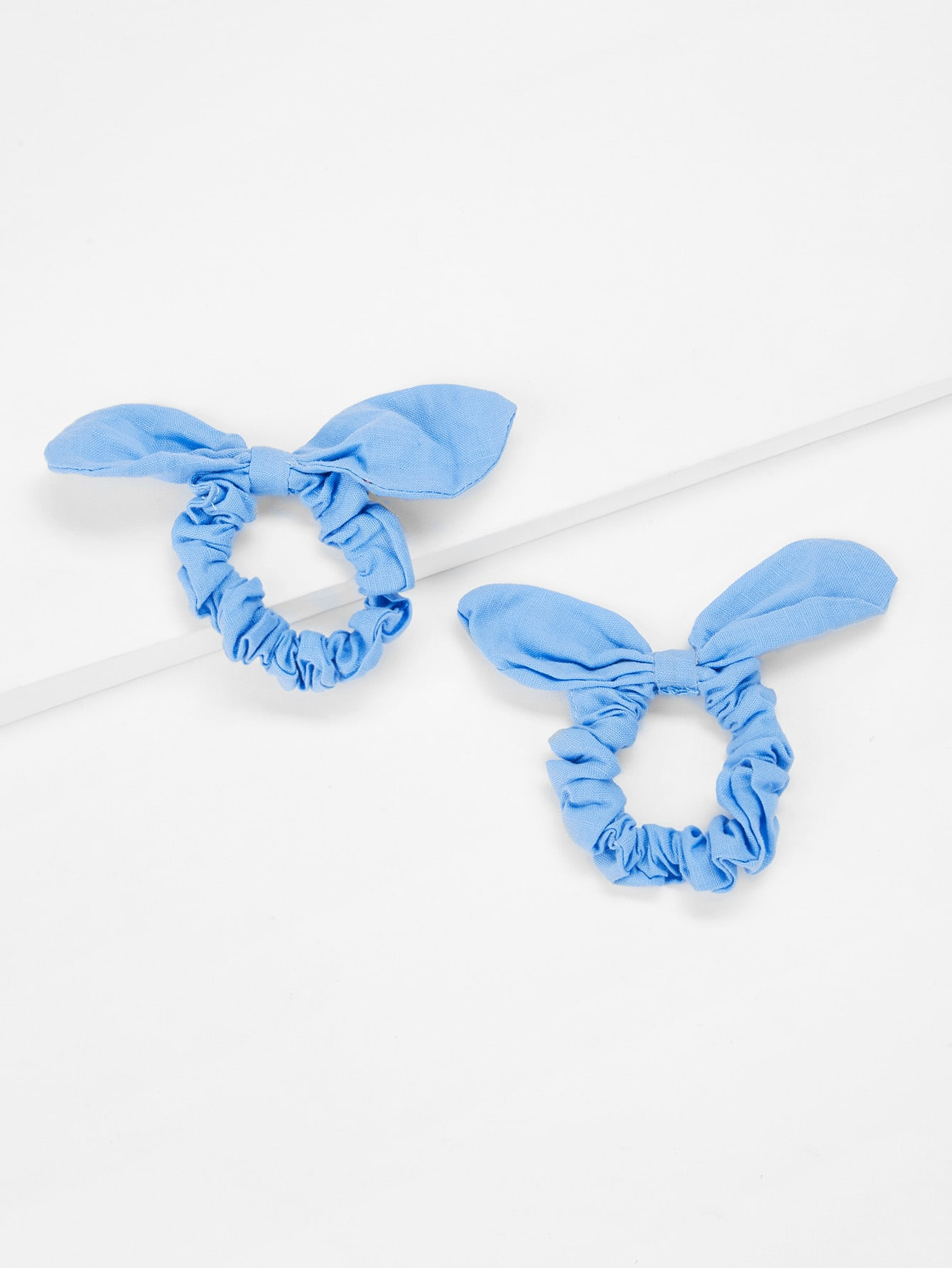 Knot Design Hair Tie 2Pcs ear knot velvet hair tie 2pcs