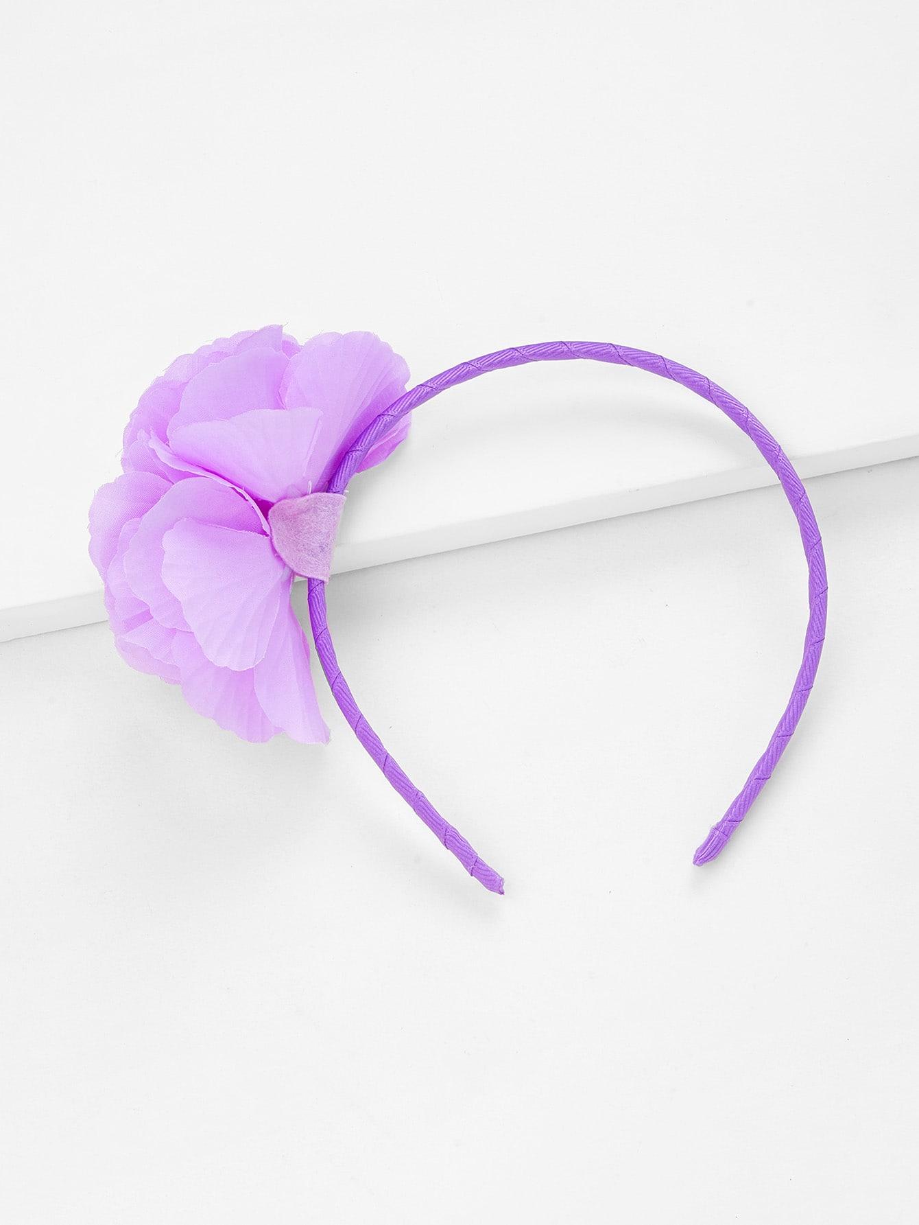 Flower Decorated Kids Headband flower decorated kids headband set 2pcs