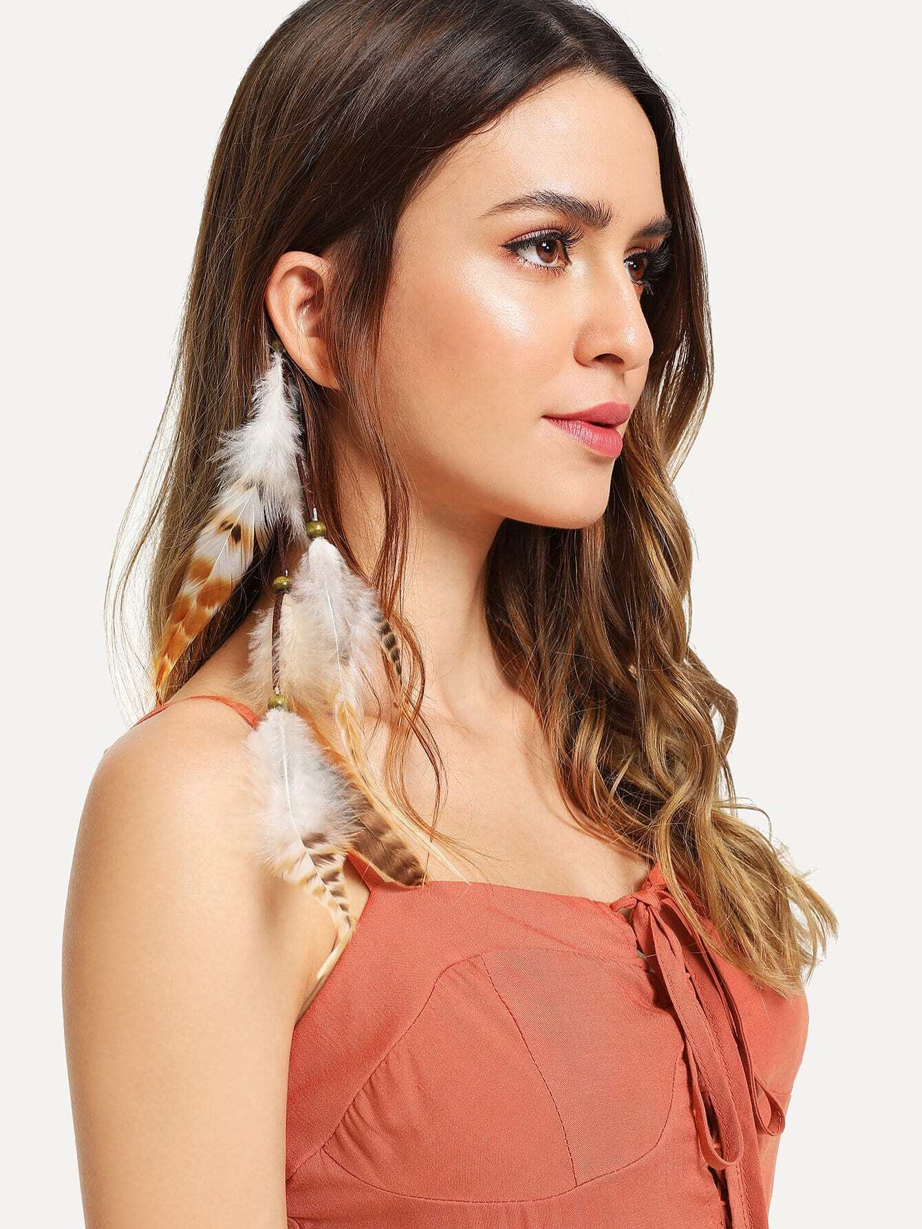 Feather Design Hair Accessories цена 2017