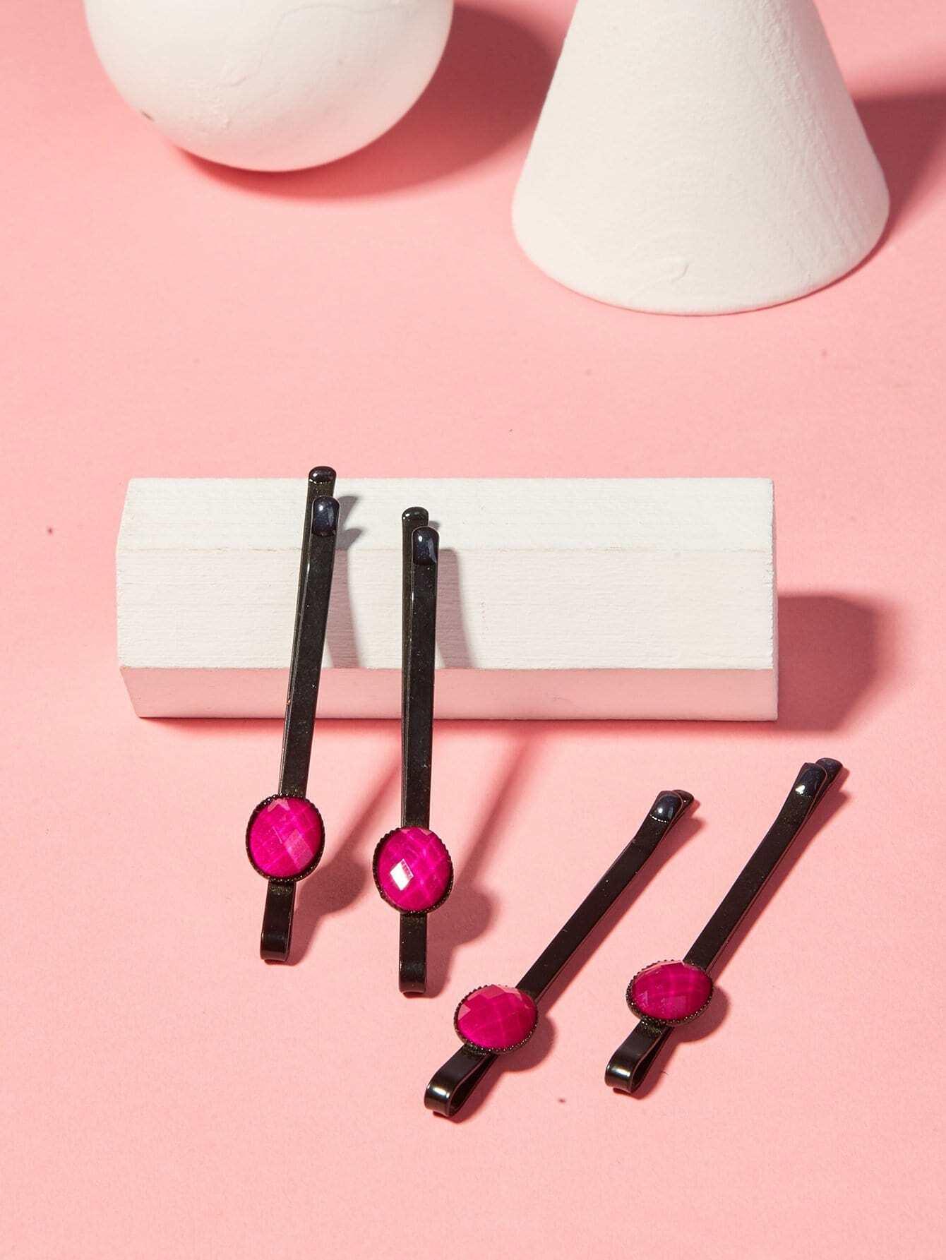 Купить Контрастный дизайн Hair Clip 2Pair, null, SheIn