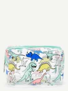Dinosaur Print Makeup Bag