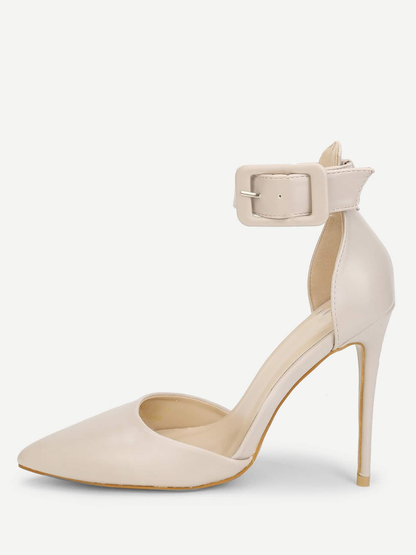 Ankle Strap Pointed Toe Stiletto Heels creativesugar pointed toe d orsay ankle