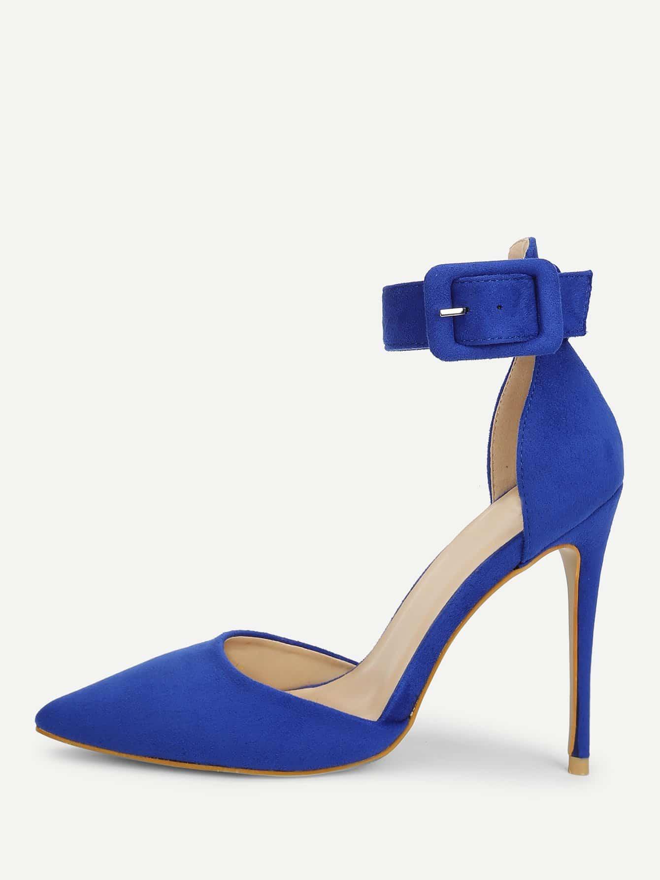 Ankle Strap Pointed Toe Stiletto Heels stiletto metallic ankle strap heels