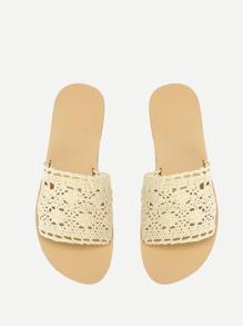 Knit Design Flat Sandals