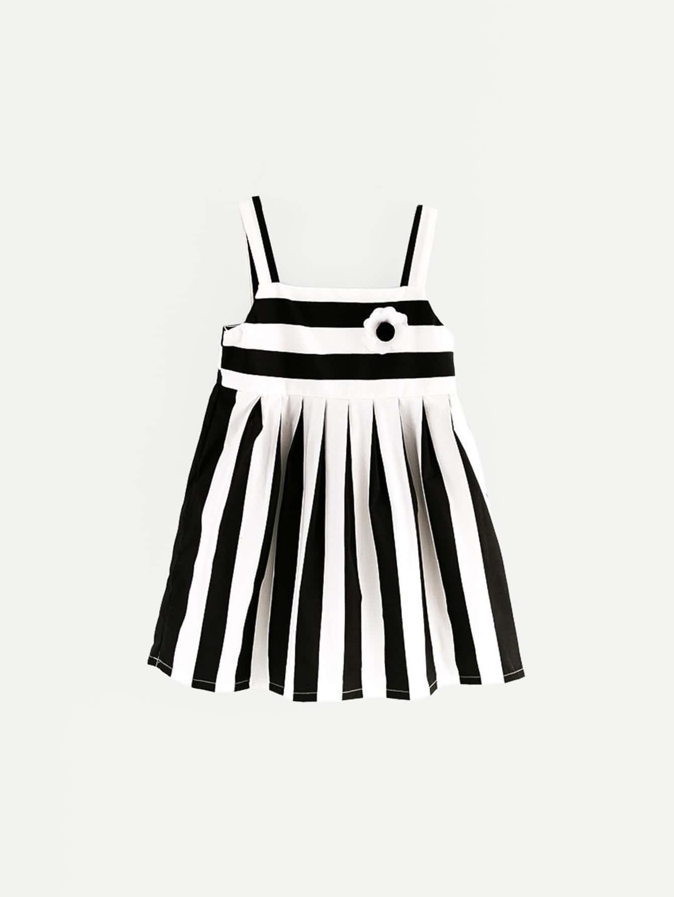 Kids Box Pleated Striped Cami Dress цена и фото