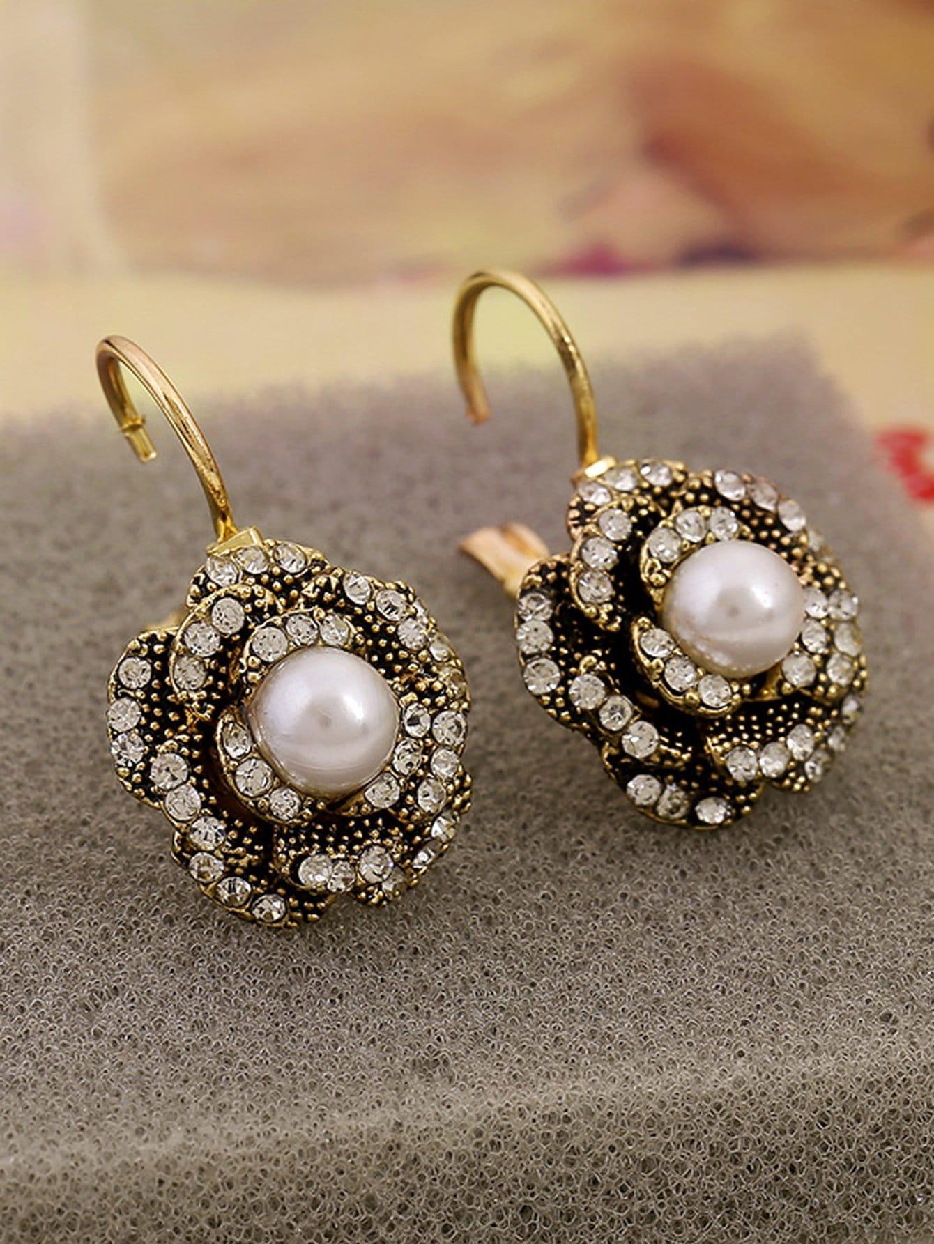 Rhinestone Flower Clip On Earrings yoursfs clip on earrings crystal rhinestone silver plated teardrop pear shaped dangle clip earrings