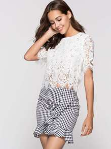 Lace Hollow Out Top