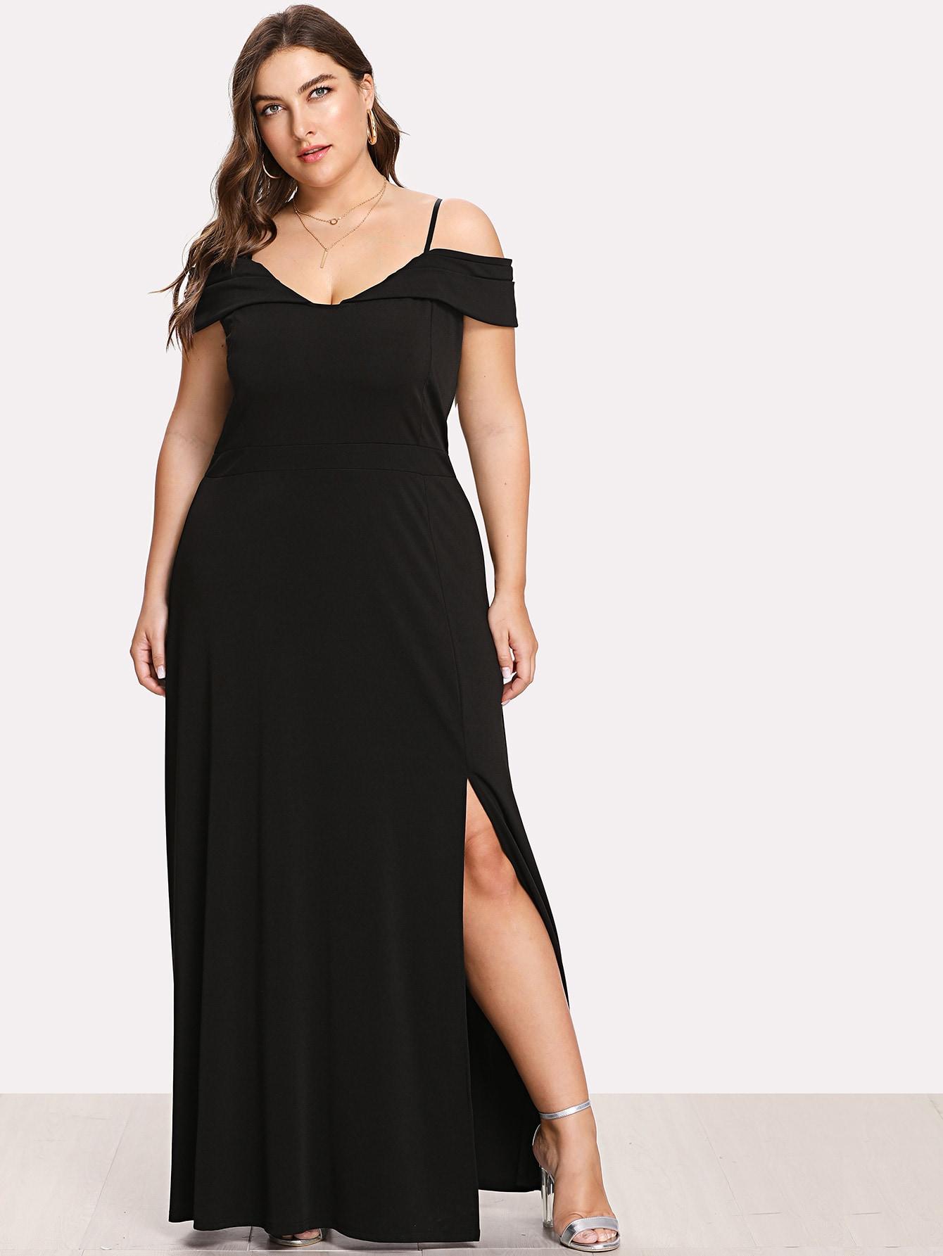Split Hem Solid Cami Dress solid split hem cami dress