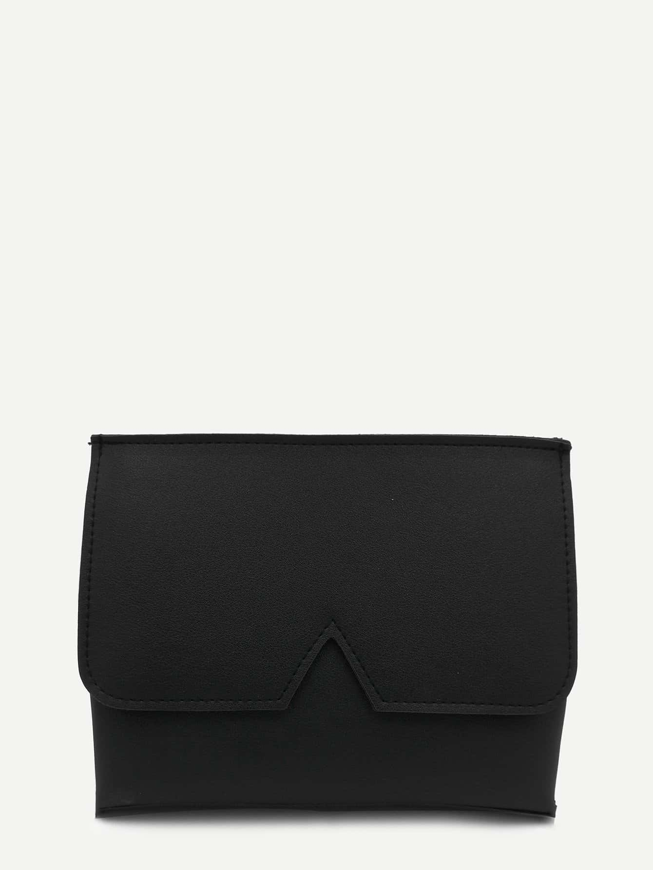 V Cut Detail PU Crossbody Bag 260 1 12 50271