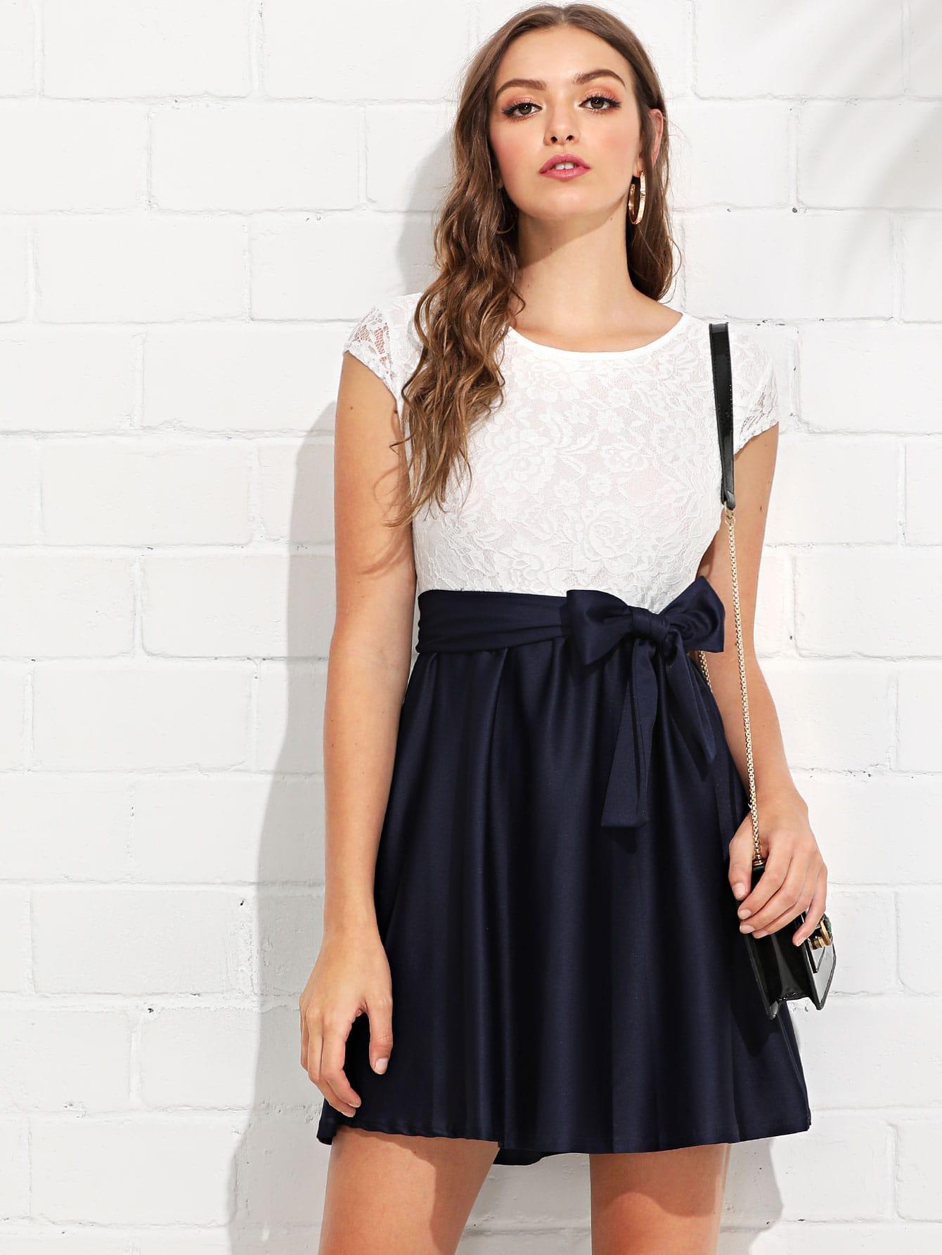 Купить Платье для талии с кружевами, Luiza, SheIn
