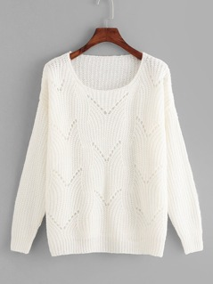 Soft Knit Eyelet Sweater