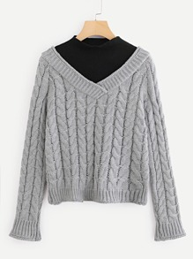 Cable Knit 2 in 1 Jumper
