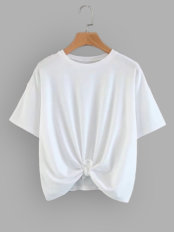 Solid Drop Shoulder Tee two tone drop shoulder sweatshirt