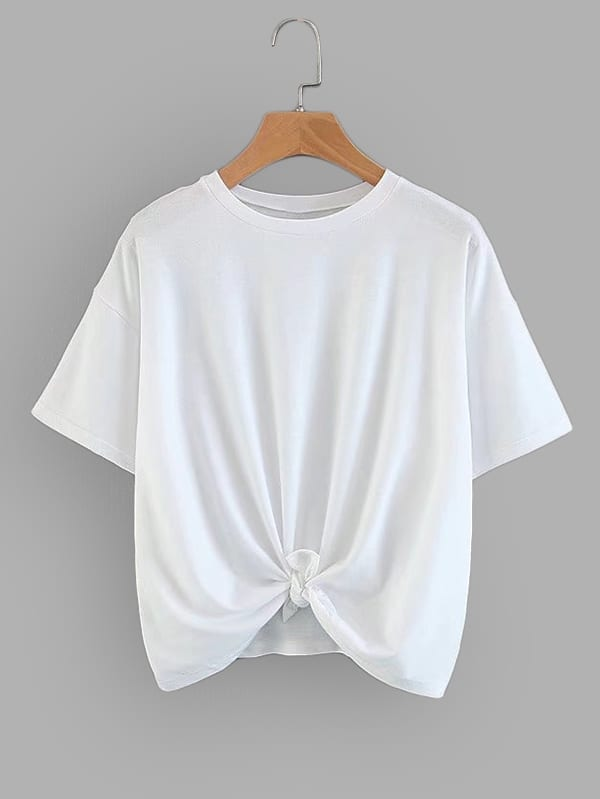 Solid Drop Shoulder Tee two tone drop shoulder tee