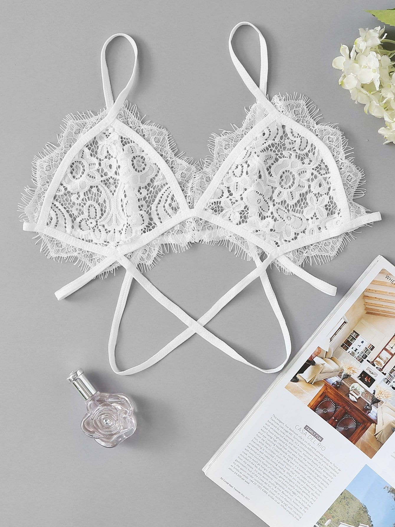 Eyelash Lace Bralette lace longline bralette