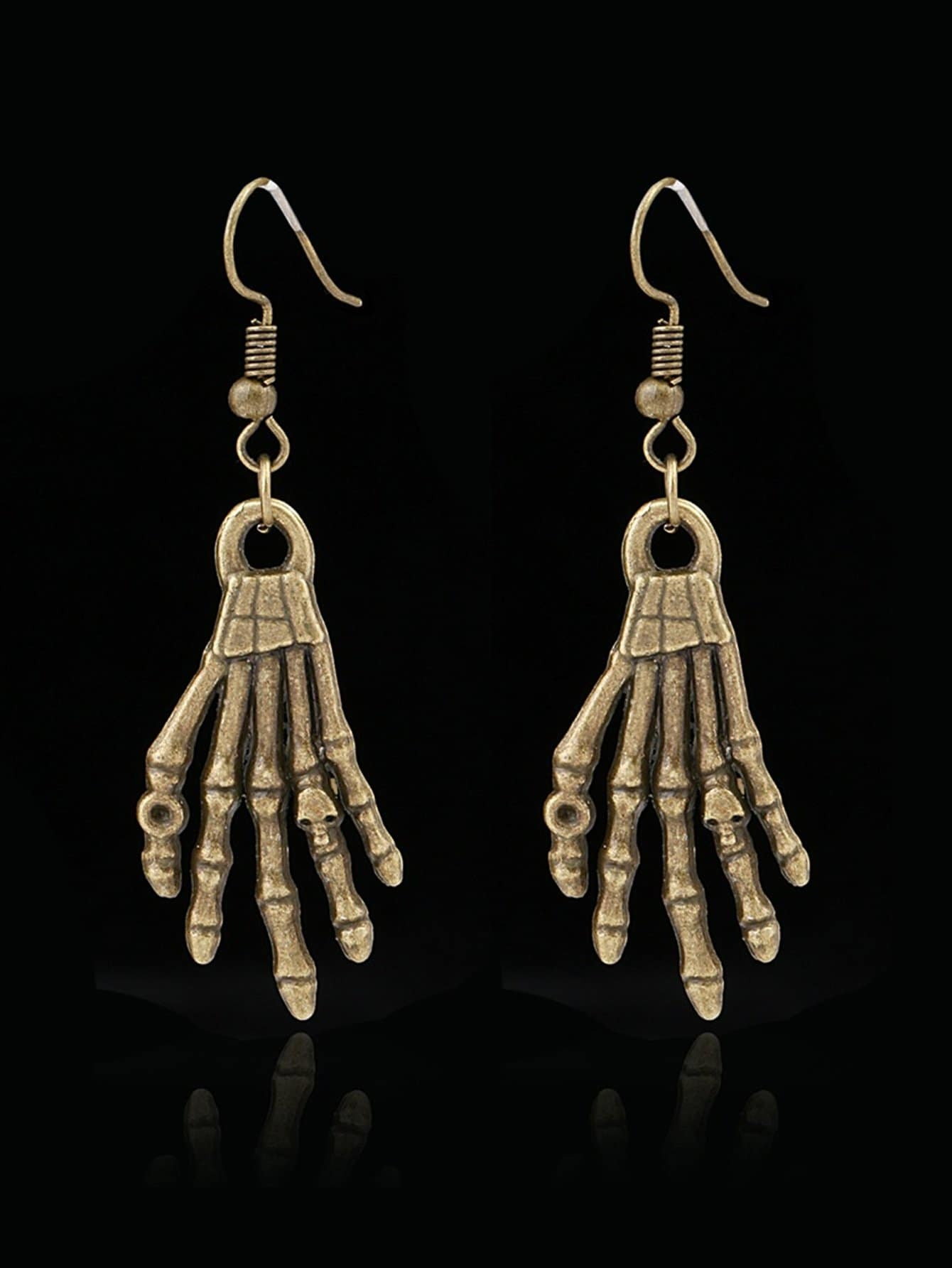 Skeleton Hand Design Drop Earrings