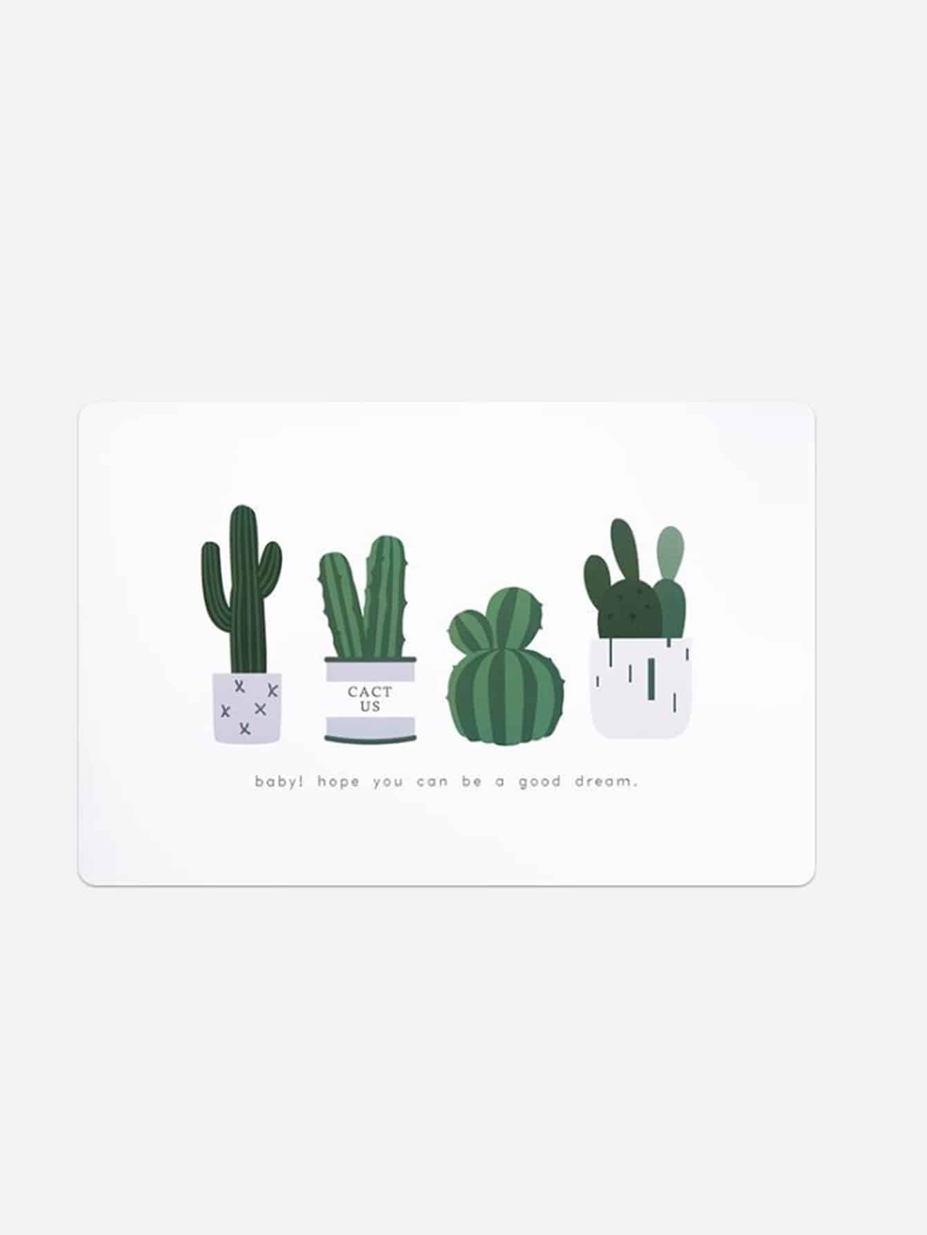 Купить Доска для резки с принтом кактус, null, SheIn