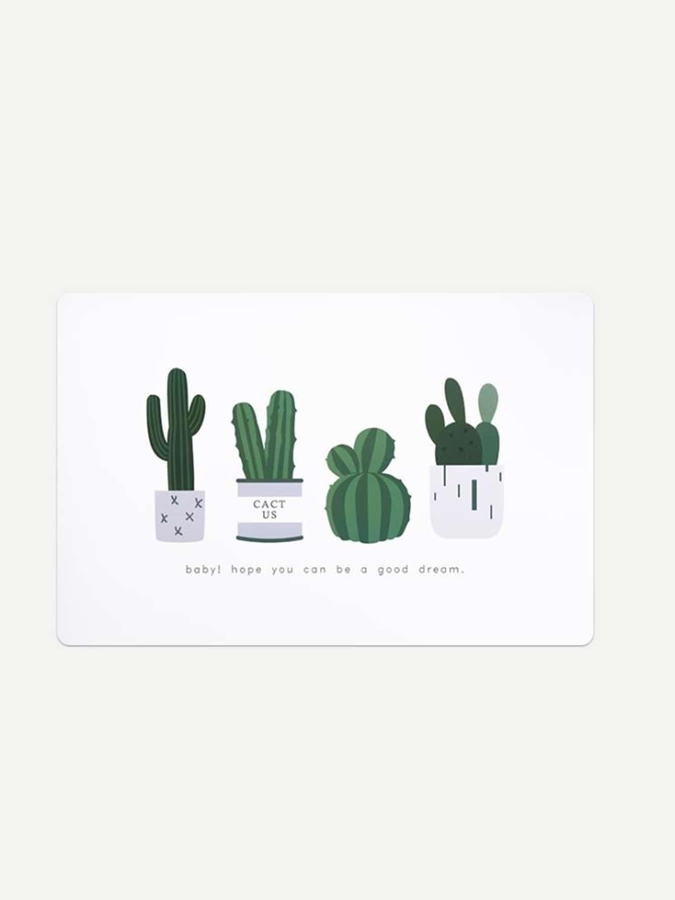 Cactus Print Placemat pot print striped placemat