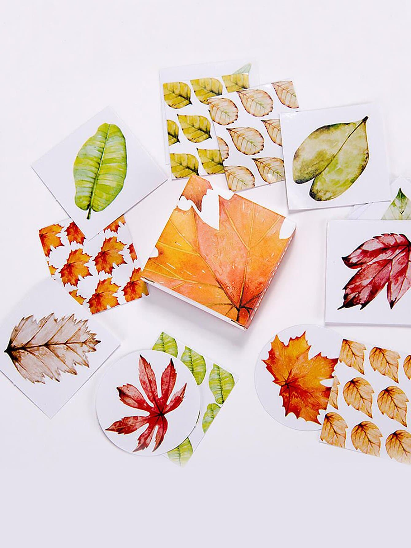 Leaves Sticky Memo Pads 40sheets leaves shaped memo sticker 100pcs