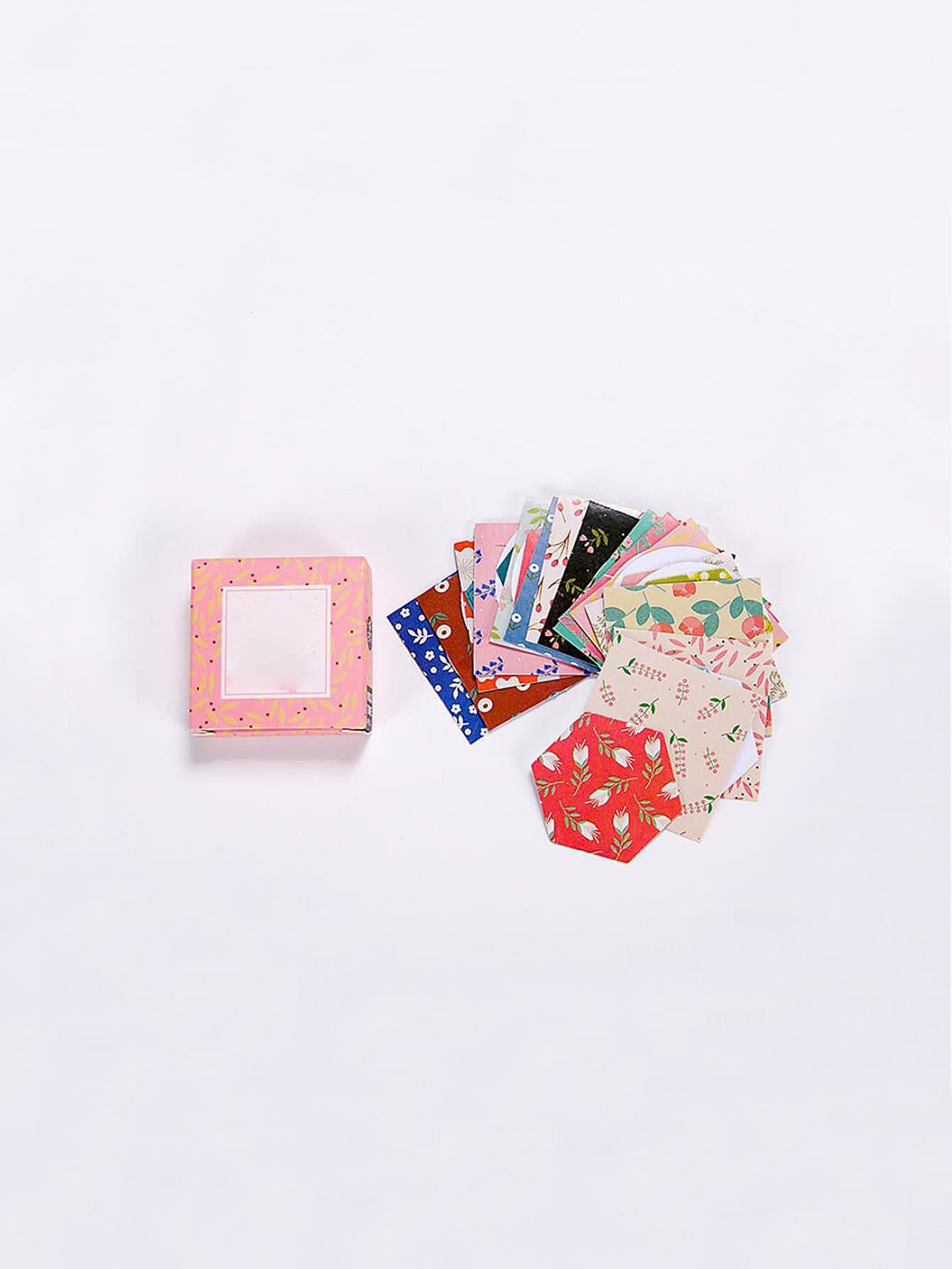 Floral Sticky Memo Pads 40sheets 40set memo pads sticky notes kawaii cute animals box paper post it daliy scrapbooking stickers office school stationery bookmark