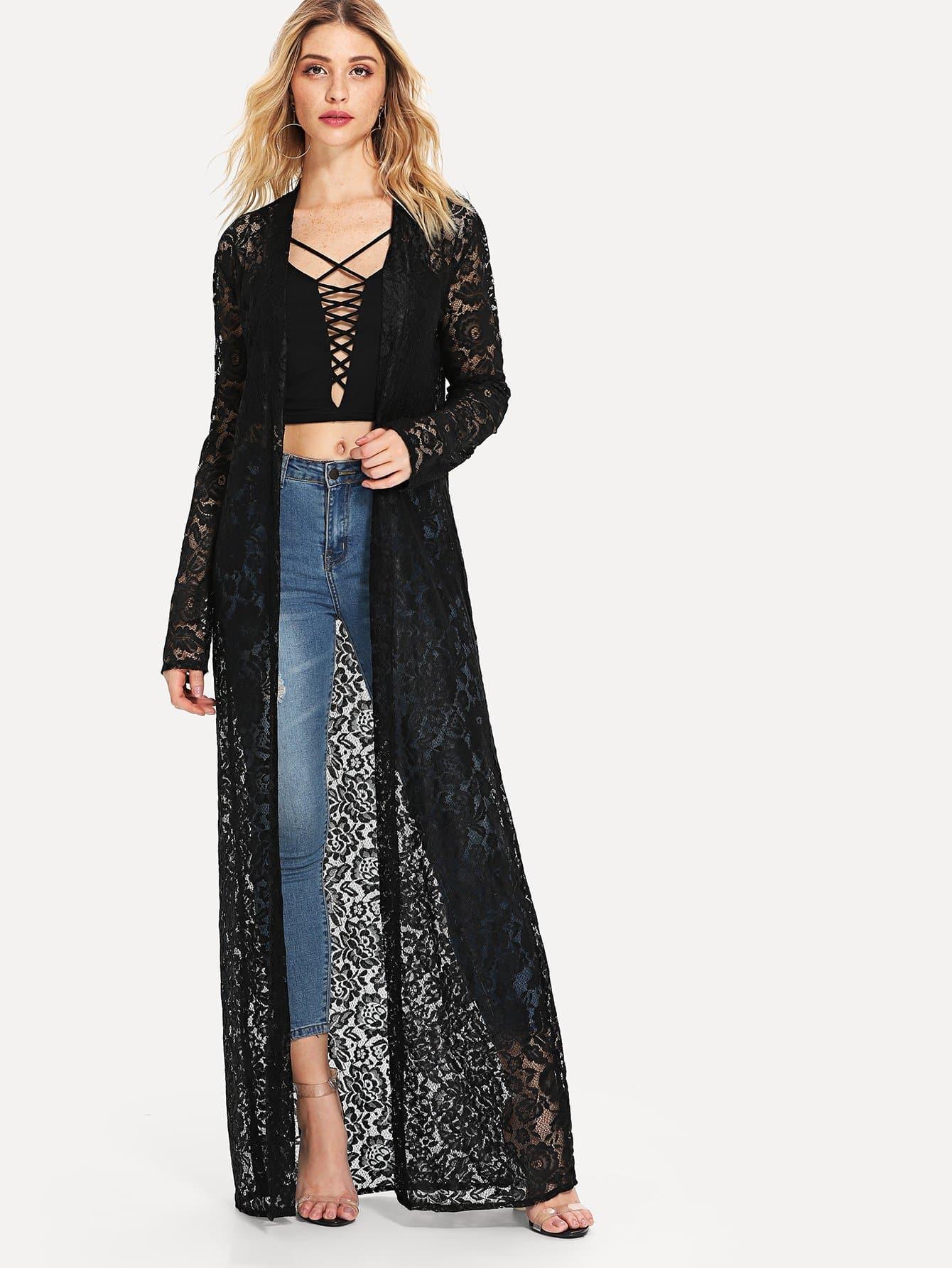 все цены на See Through Lace Kimono