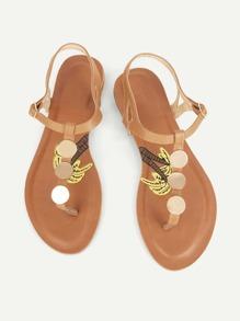Round Disc Toe Post Sandals