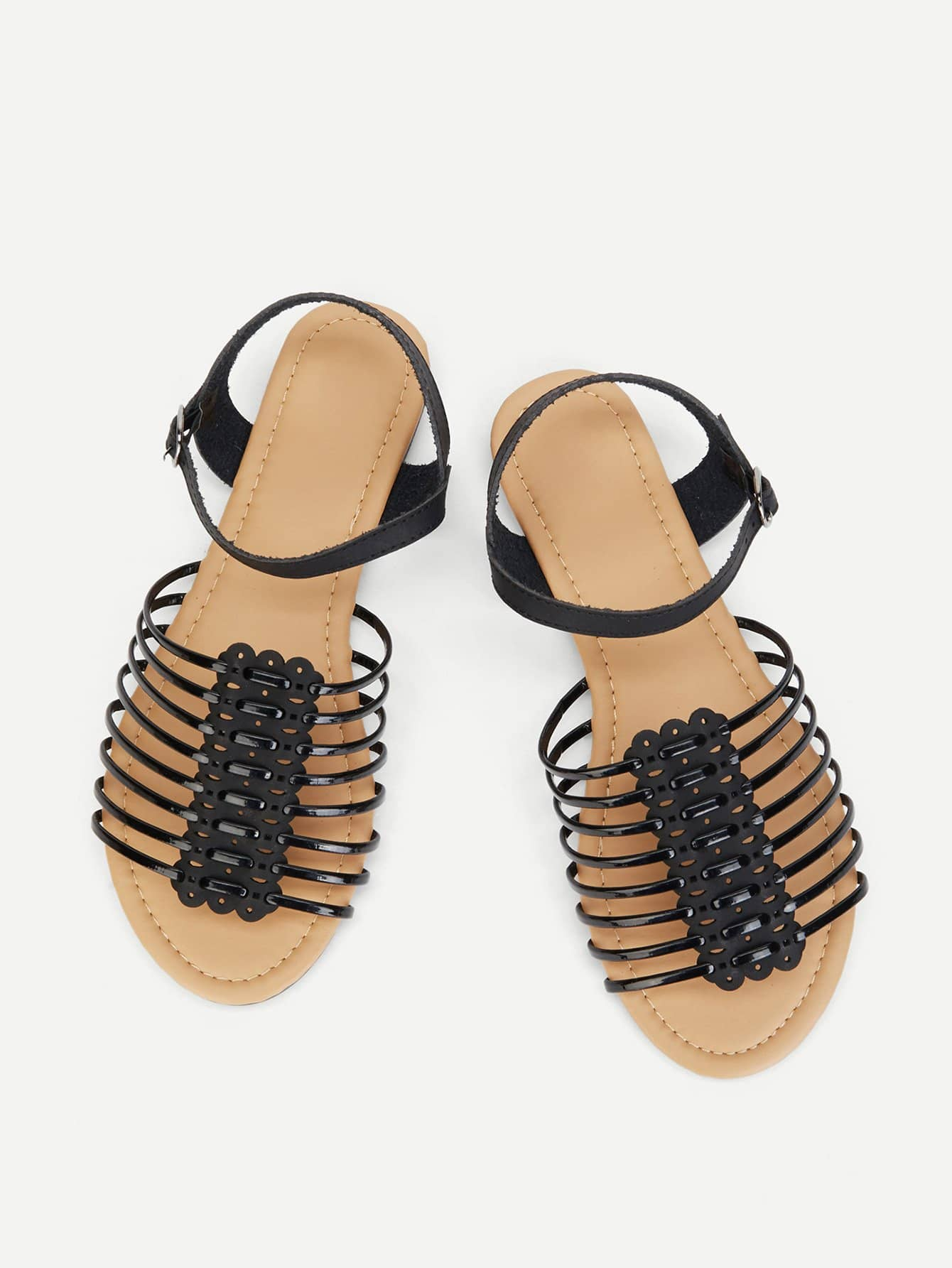 Peep Toe Flat Sandals ladies sandals 2018 new women sandals casual flat shoes fashion peep toe summer beach sandals string bead bohemian wedge sandals
