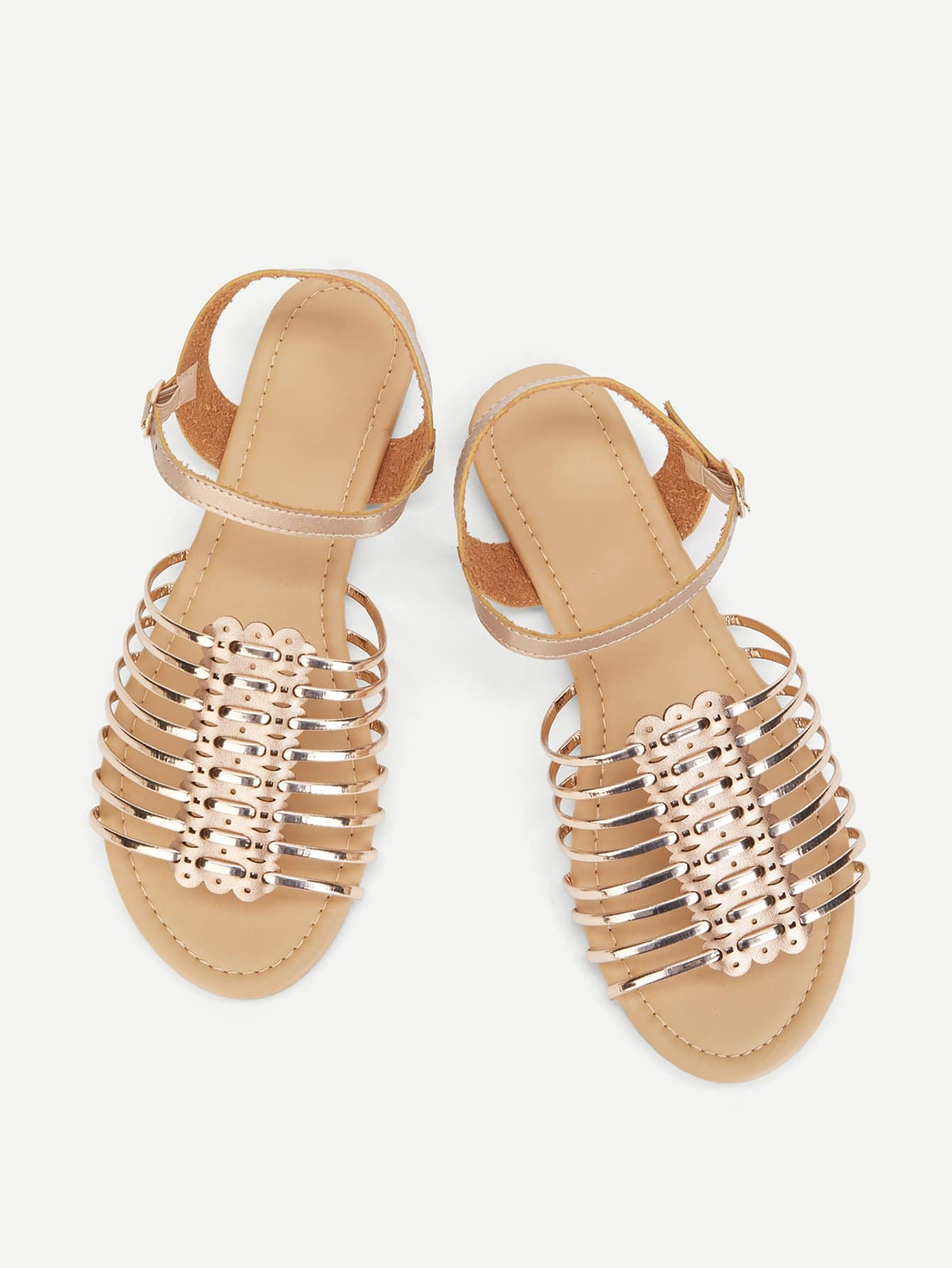 Metallic Peep Toe Flat Sandals xda 2018 new summer sandals women flat shoes bandage bohemia leisure lady casual sandals peep toe outdoor fashion sandals f171