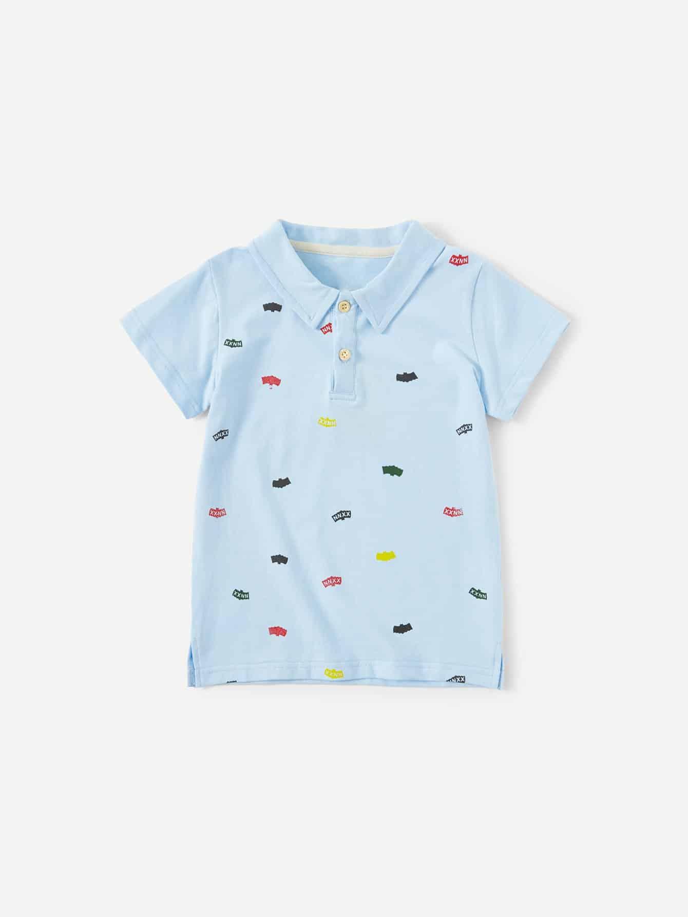 Дети Письмо Печати Рубашки Поло