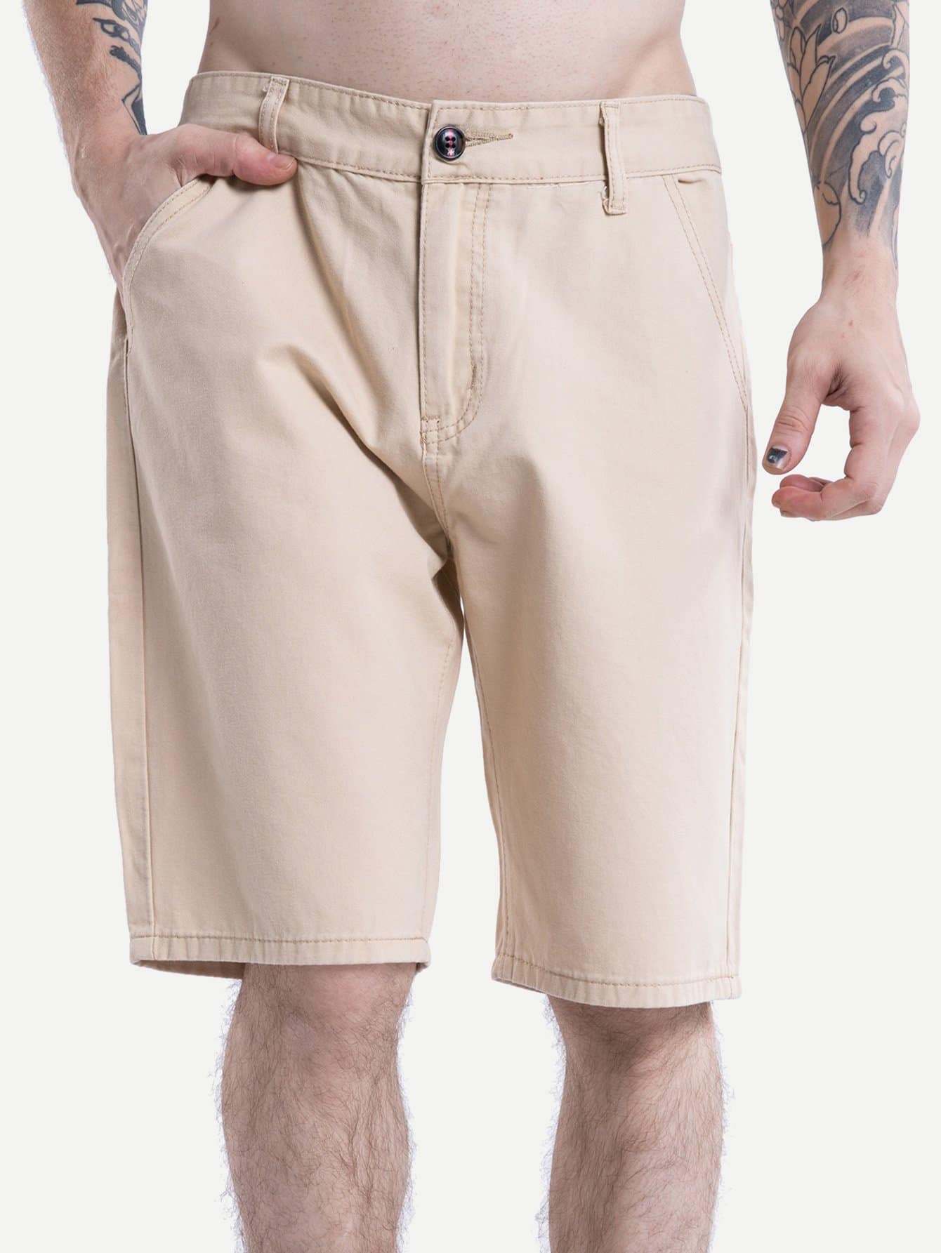 Men Cut And Sew Panel Shorts men cut and sew panel beach shorts