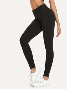 Solid Slim Fit Leggings
