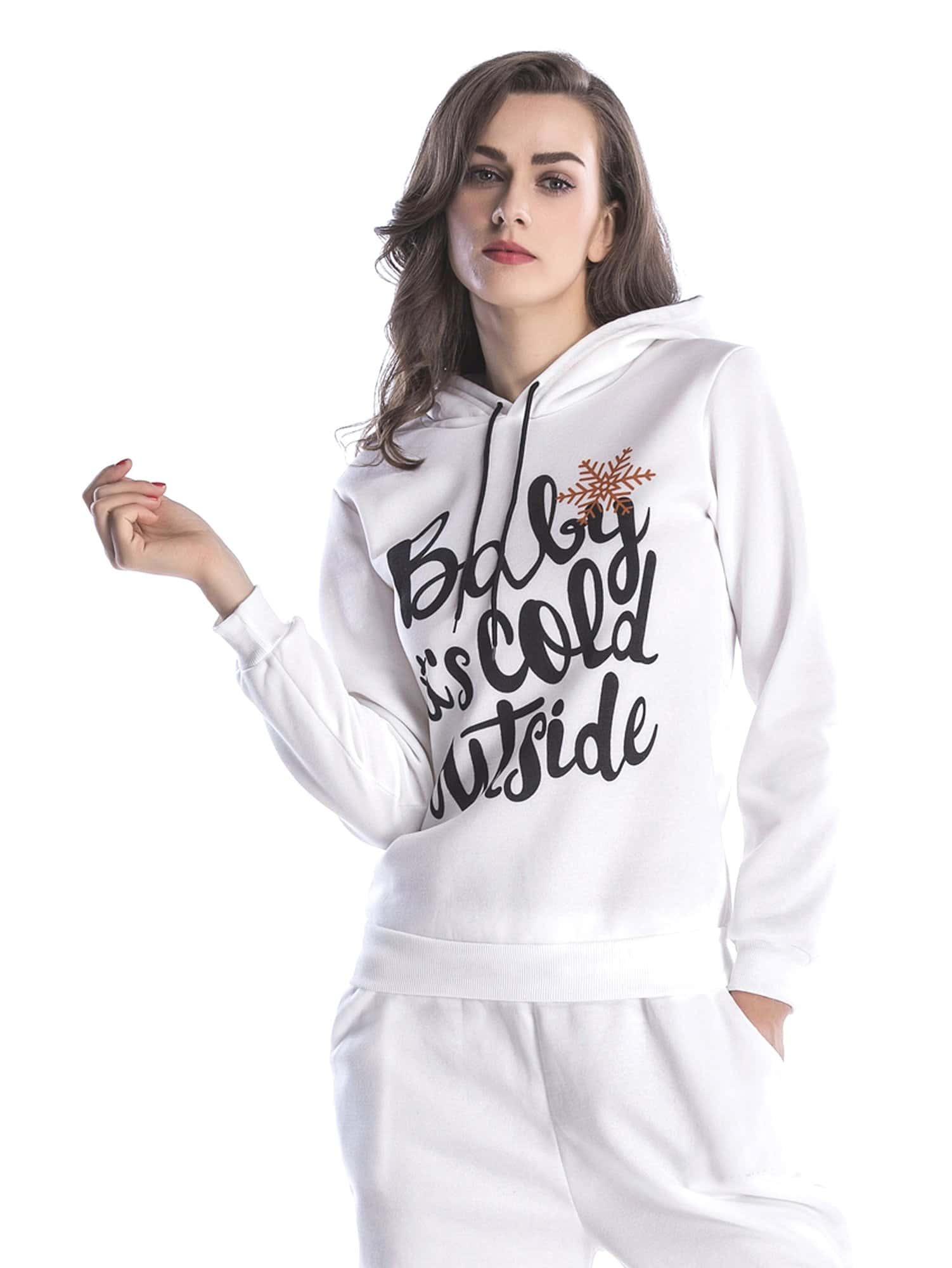Letter Print Drawstring Hoodie letter print raglan hoodie