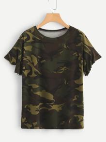 Camouflage Print Tee