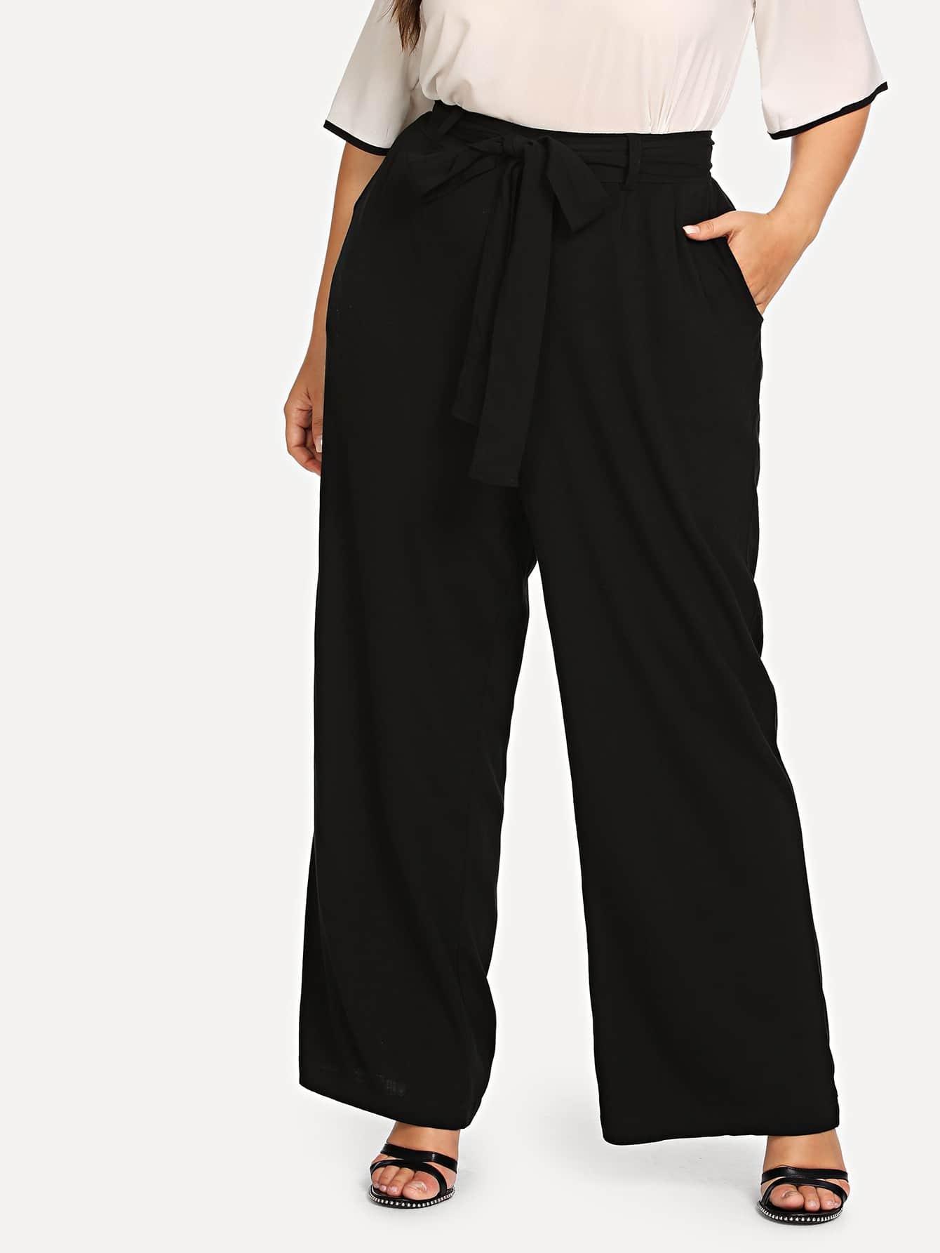 Knot Front Wide Leg Pants knot front wide leg printed jumpsuit